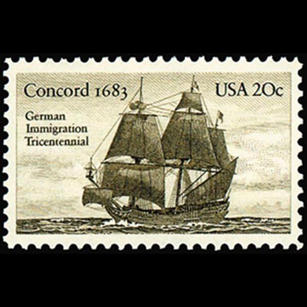 1983 20c German Immigration Mint Single