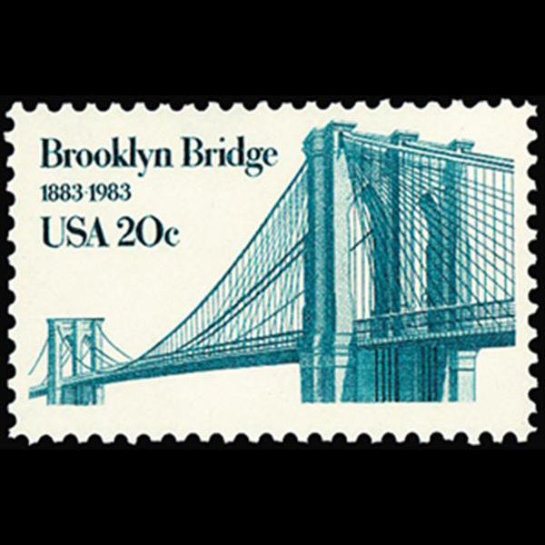 1983 20c Brooklyn Bridge Mint Single