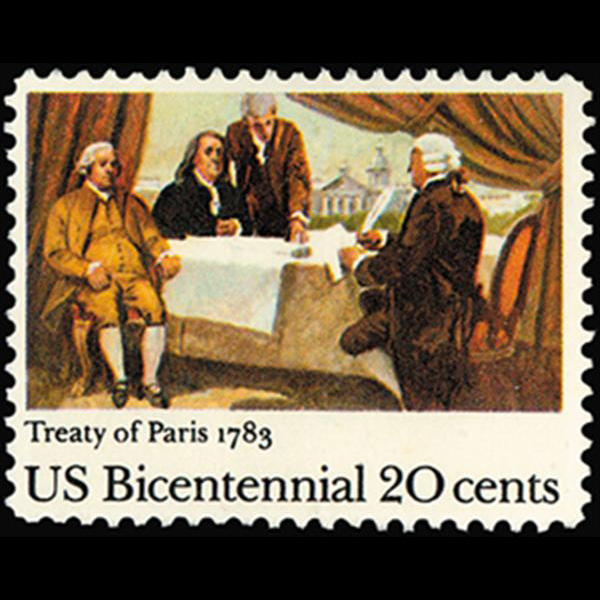 1983 20c Treaty of Paris Mint Single