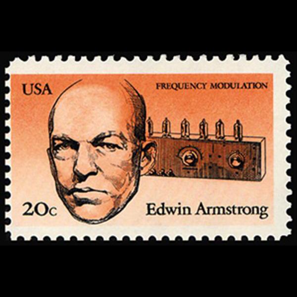 1983 20c Edwin Armstrong Mint Single