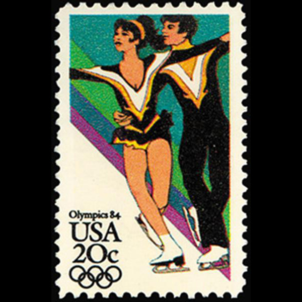 1984 20c Ice Dancing Mint Single