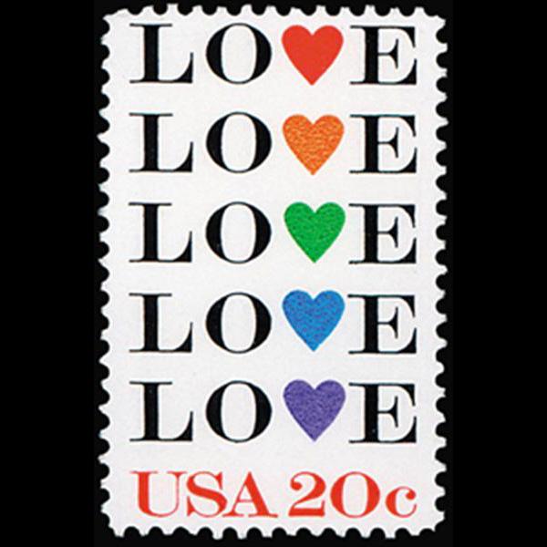1984 20c Love Mint Single
