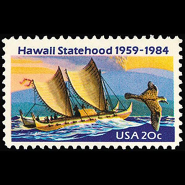1984 20c Hawaii Statehood Mint Single