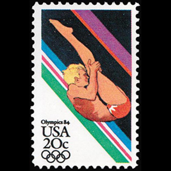 1984 20c Men's Diving Mint Single