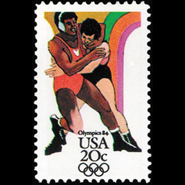 1984 20c Wrestling Mint Single