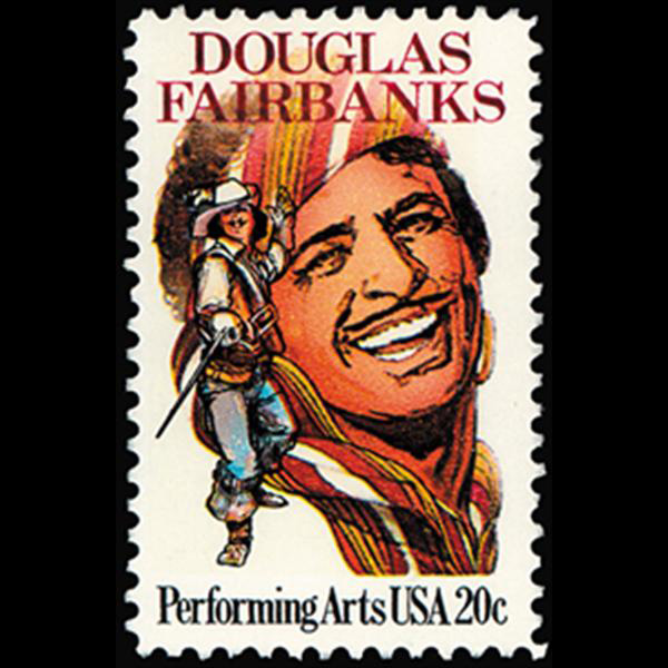 1984 20c Douglas Fairbanks Mint Single