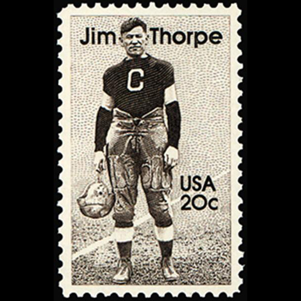 1984 20c Jim Thorpe Mint Single