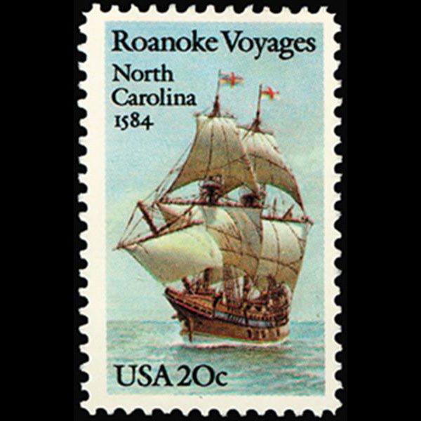 1984 20c Roanoke Voyages Mint Single
