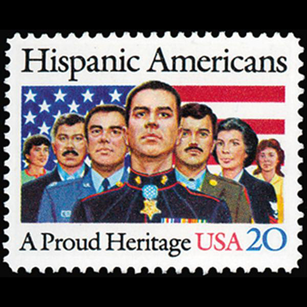 1984 20c Hispanic Americans Mint Single