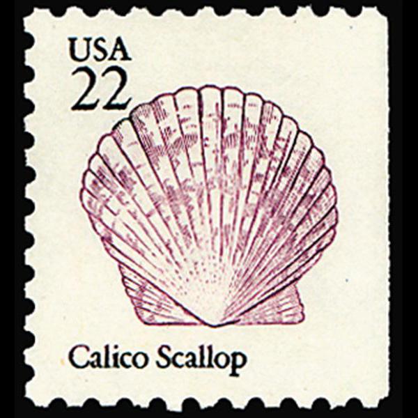 1985 22c Calico Scallop Mint Single