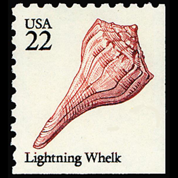 1985 22c Lightning Whelk Mint Single