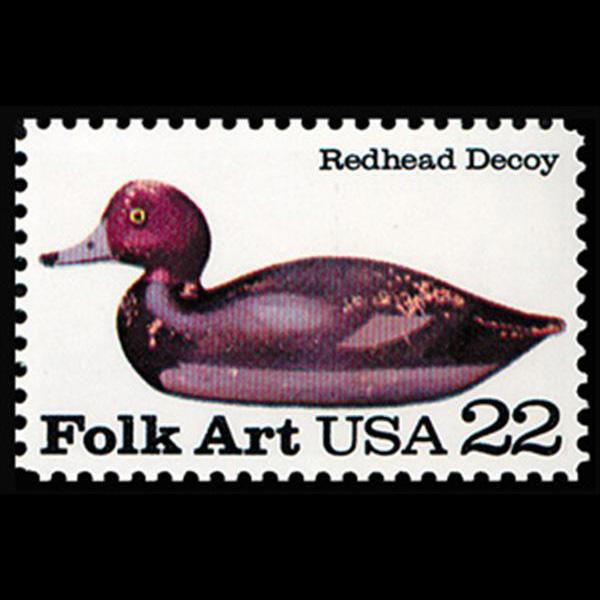 1985 22c Redhead Mint Single