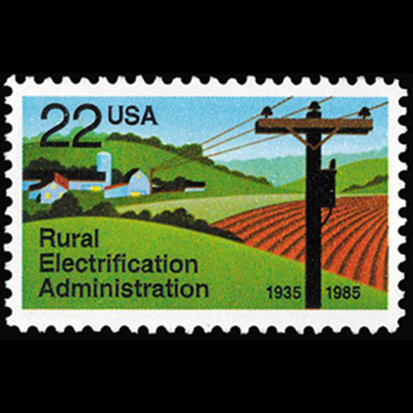 1985 22c Rural Electricity Mint Single