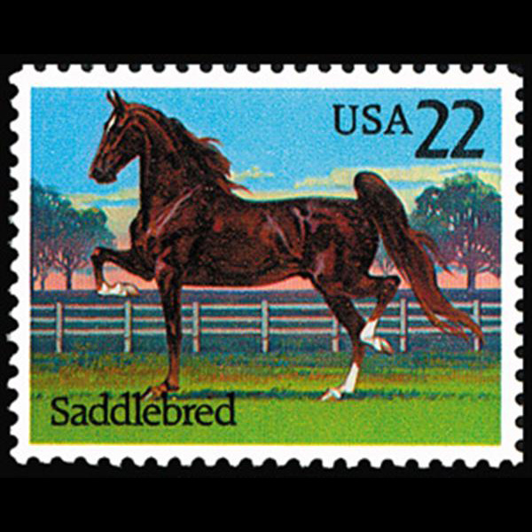1985 22c Saddlebred Mint Single