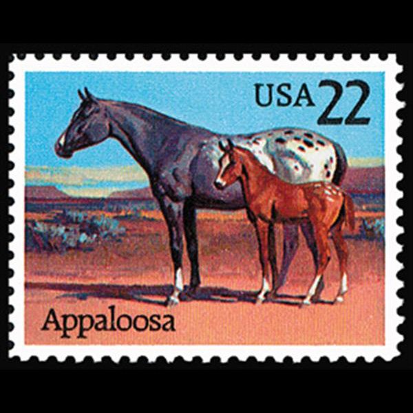 1985 22c Appaloosa Mint Single
