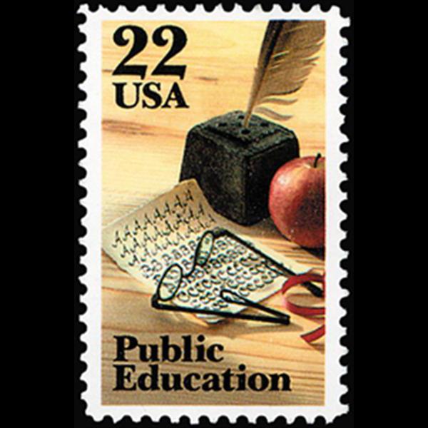 1985 22c Public Education Mint Single