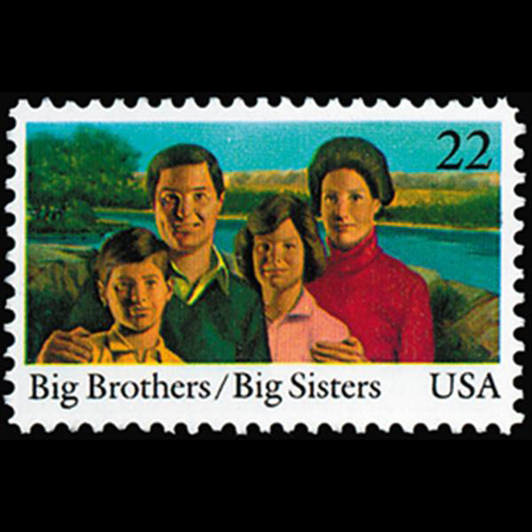 1985 22c Big Brothers & Big Sisters Mint Single