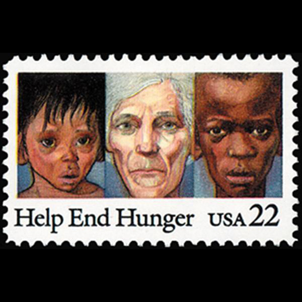 1985 22c Help End Hunger Mint Single