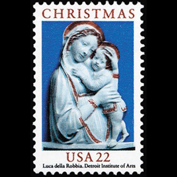 1985 22c Madonna & Child Mint Single