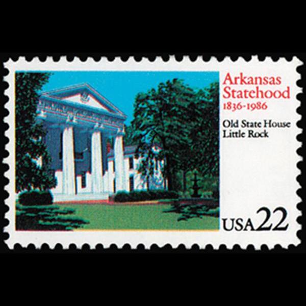 1985 22c Arkansas Mint Single