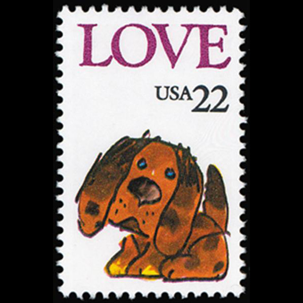 1986 22c Love Mint Single