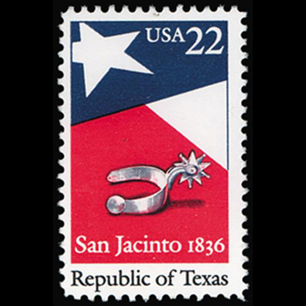 1986 22c Texas Republic Mint Single