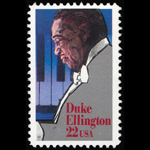 1986 22c Duke Ellington Mint Single