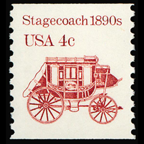 1986 4c Stagecoach Mint Single