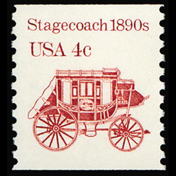 1986 4c Stagecoach Mint Single