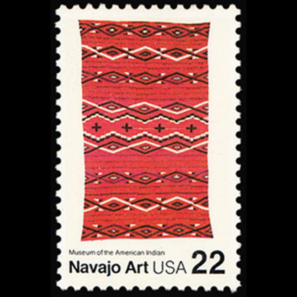 1986 22c Navajo Art Mint Single