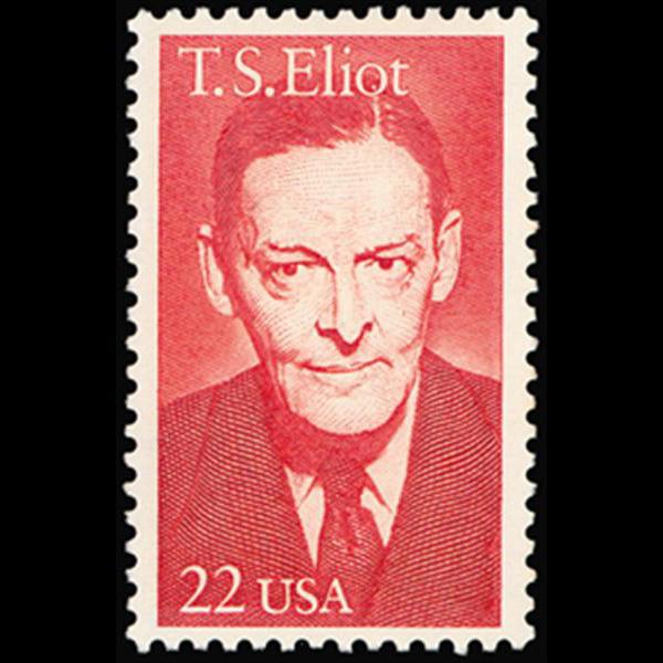 1986 22c T.S. Eliot Mint Single