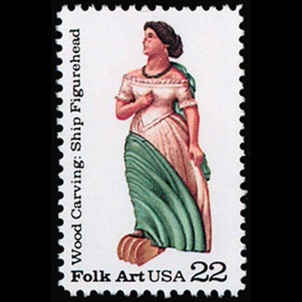1986 22c Ship Figurehead Mint Single