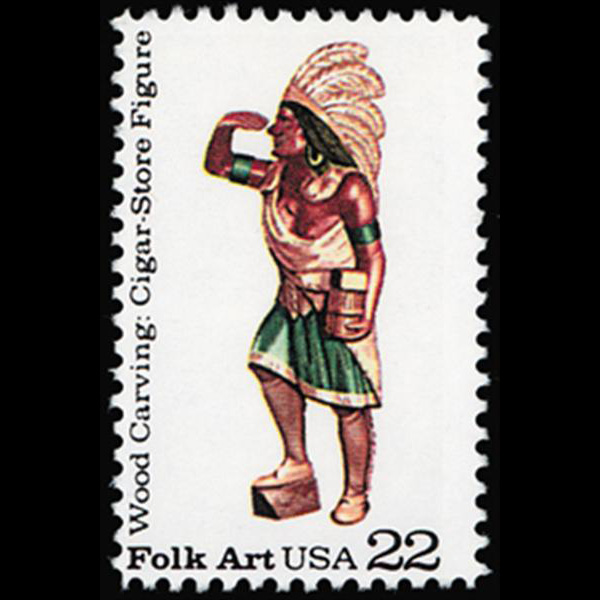 1986 22c Cigar Store Figure Mint Single