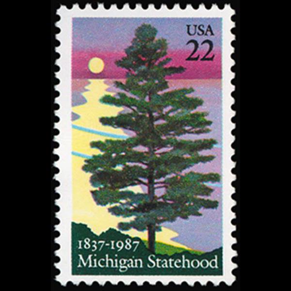 1987 22c Michigan Statehood Mint Single