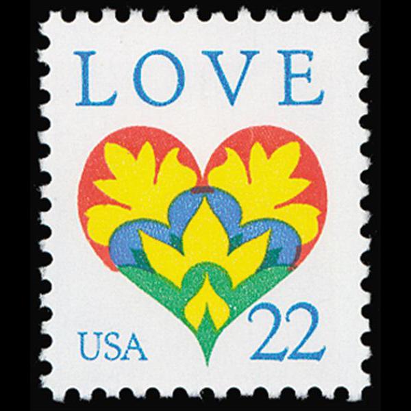 1987 22c Love Mint Single
