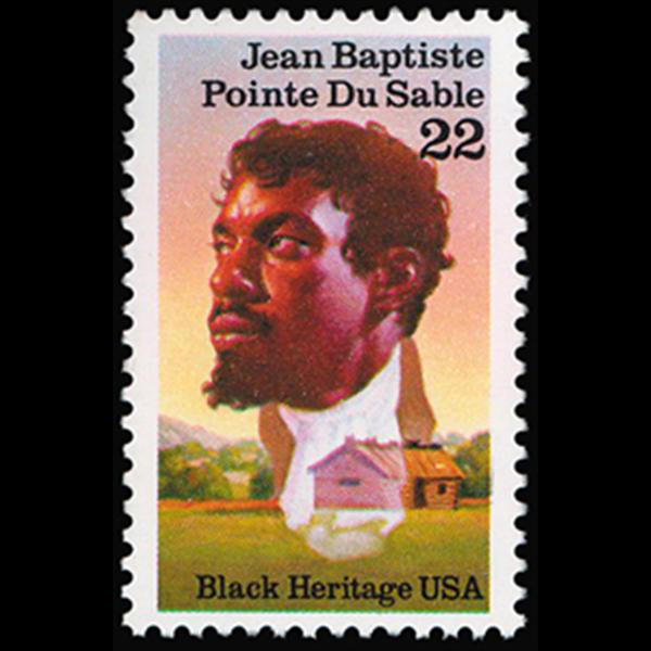 1987 22c Jean Baptiste Pointe du Sable Mint Single