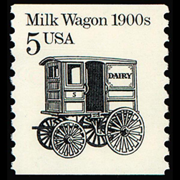 1987 5c Milk Wagon Mint Single