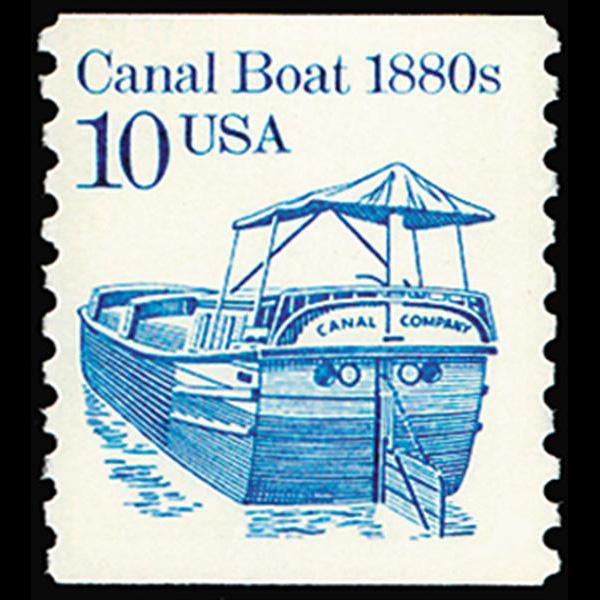 1987 10c Canal Boat Mint Single