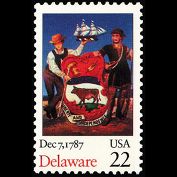 1987 22c Delaware Statehood Mint Single