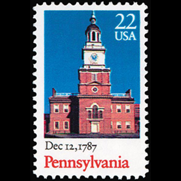 1987 22c Pennsylvania Statehood Mint Single