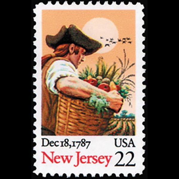 1987 22c New Jersey Statehood Mint Single