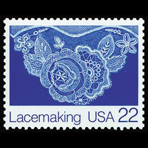 1987 22c Lace Leslie K. Saari Mint Single
