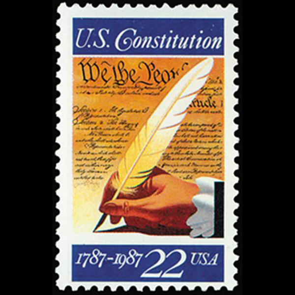1987 22c Signing of U.S. Constitution Mint Single