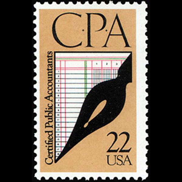 1987 22c Certified Public Accountants Mint Single