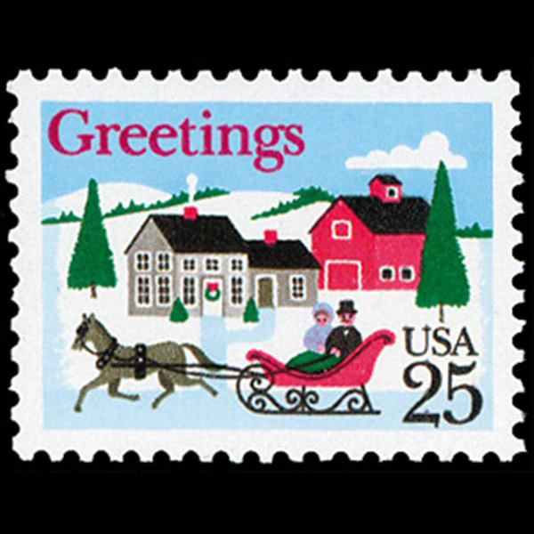 1988 25c One Horse Sleigh Mint Single
