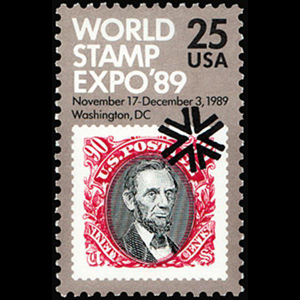 1989 25c World Stamp Expo '89 Mint Single