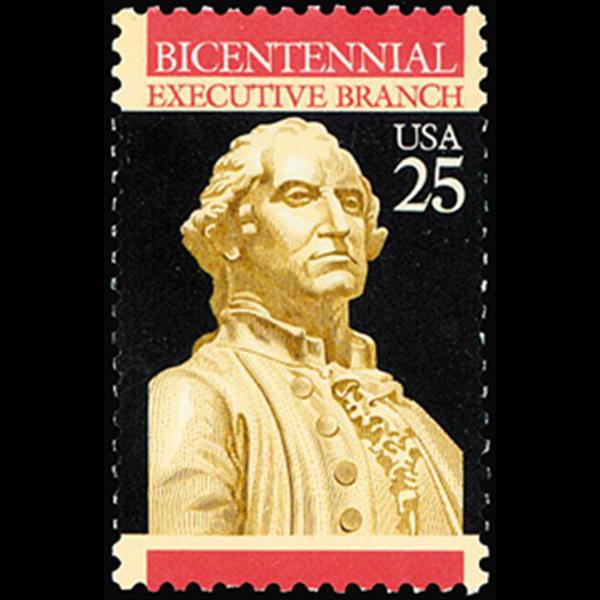 1989 25c Executive Branch Mint Single