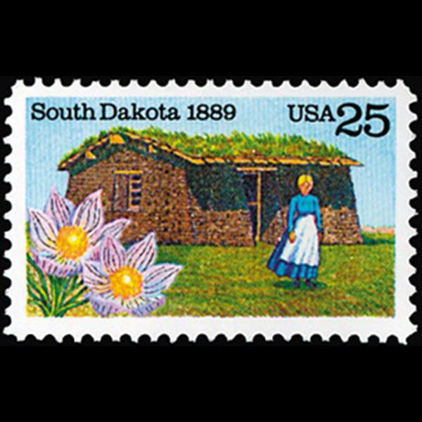 1989 25c South Dakota Statehood Mint Single