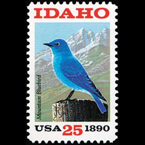 1990 25c Idaho Statehood Mint Single