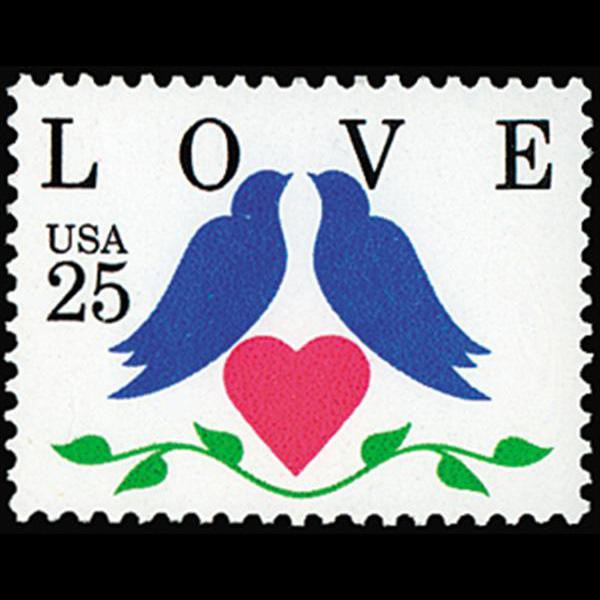 1990 25c Love Mint Single